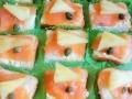 Posni kanapei - namaz od povrcamaslinatunjevine, dimljeni losos, kapar, ananas