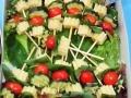 Raznjic salata - kackavalj, sremus, ceri paradajz, krastavac