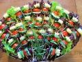 Raznjic salata-kackavalj, sremus, ceri paradajz, krastavac