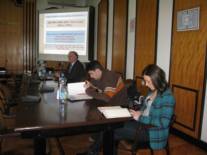 Seminar o ISO u Privrednoj komori