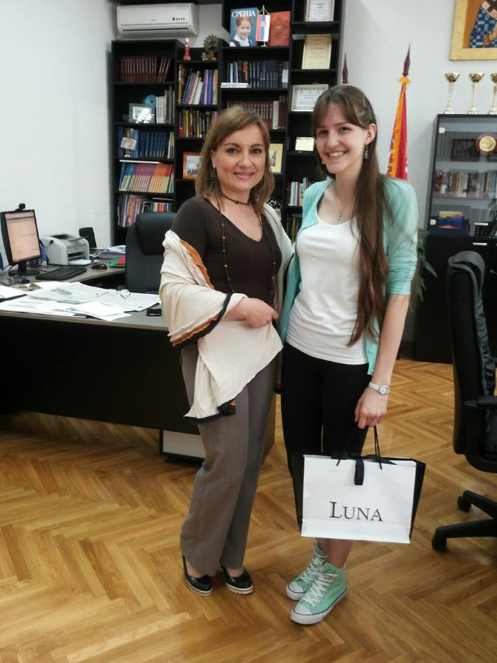 Bogdana Jelic - nagradjena maturantkinja Matematicke gimnazije.