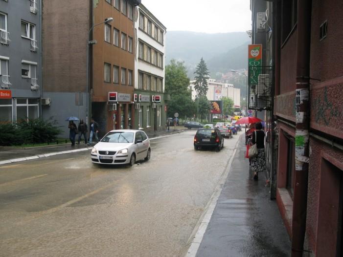 Јака киша у Ужицу