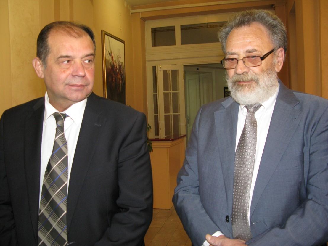 Gradonacelnik Tihomir Petkovic i profesor Prvoslav Marjanovic