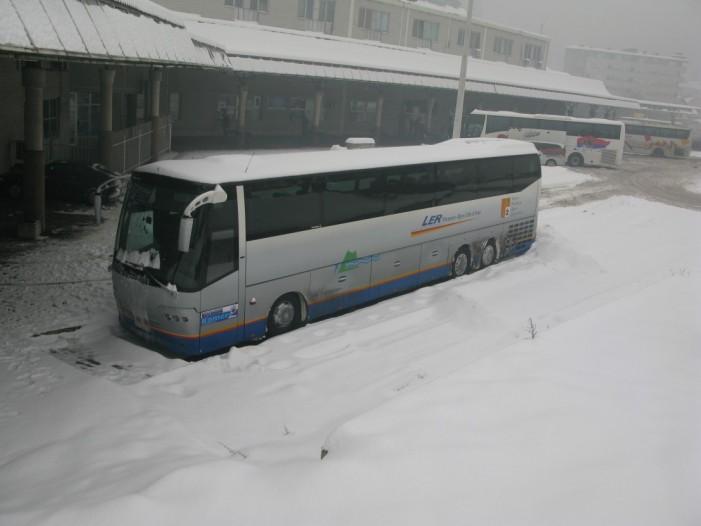 Хаос на аутобуској станици и око ње