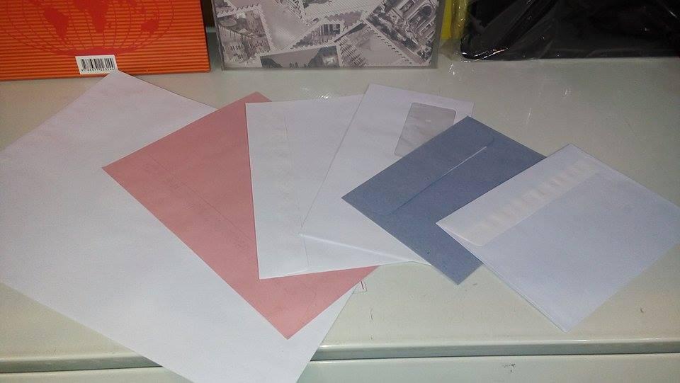 koverte svih dimenzija, sa prozorima i bez