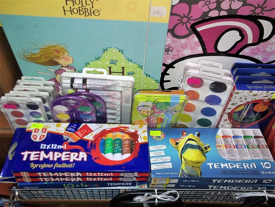 petar pan užice školski pribor, školske torbe, sveske, maped, štedler