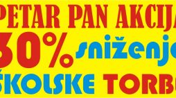 30 posto popusta na đačke torbe i pernice u Petru Panu