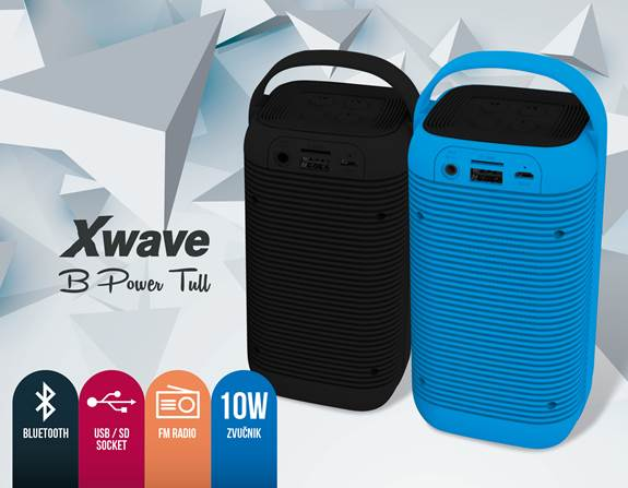 Xwave b power tull bluetooth zvučnik sa fm radiom