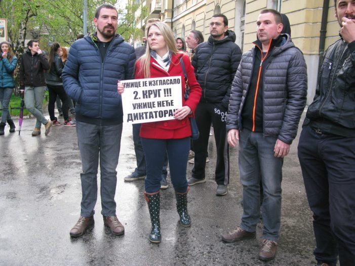 Трећи дан протеста у Ужицу