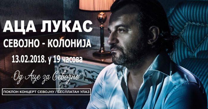 Предизборни концерт Аца Лукаса у Севојну