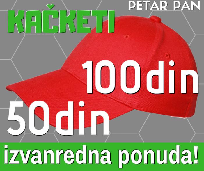 Kačketi 50 i 100 dinara!