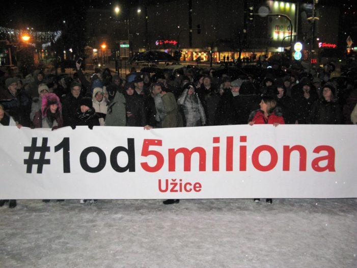 Одржани први протести у Ужицу